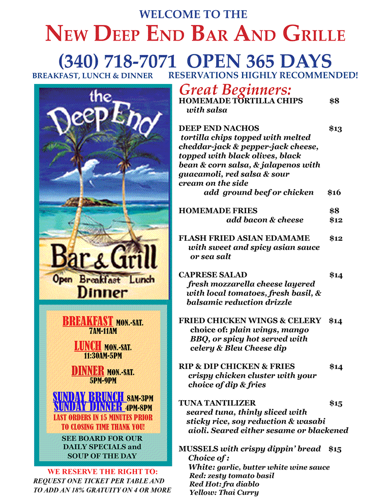 mango planters punch with Menu The New Deep End Beach Bar Grill St Croix Usvi on 119002610 further Knockout Punch further Impatiens in addition Planters 27 punch cocktail additionally newdeepend.