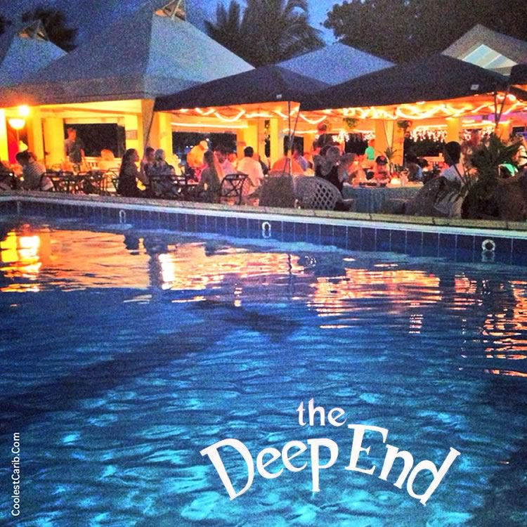 Evening at The New Deep End Bar and Grill, Tamarind Reef, St. Croix, USVI